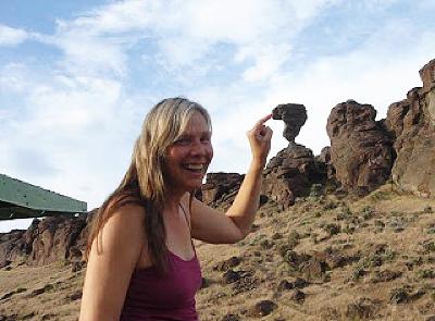 southern idaho icon balanced rock is a sweet spring destination