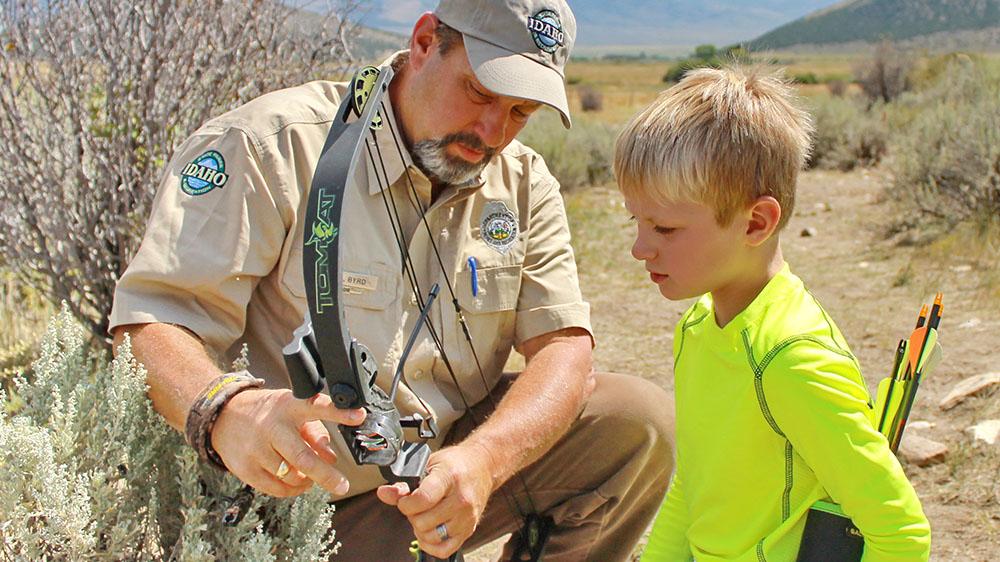 teaching a young hunter