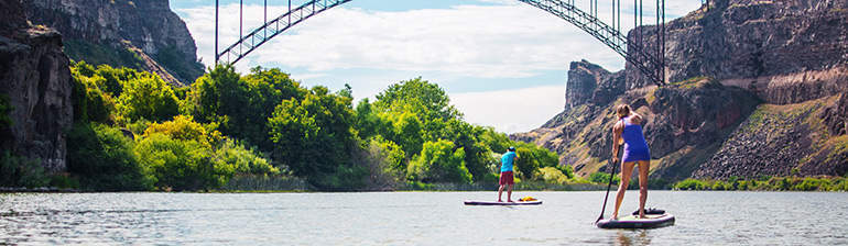Stand Up Paddleboarding in Southern Idaho