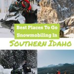 These snowmobiling places in Southern Idaho are great ideas to put on my Winter things to do in Idaho list! Can't wait to snowmobile in Idaho at places like City of Rocks, Mount Harrison, and more!