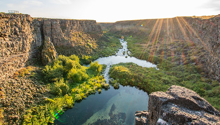 Box Canyon, Thousand Springs State Park, Blue Water, Mermaid Tail, Sunrise, Spring