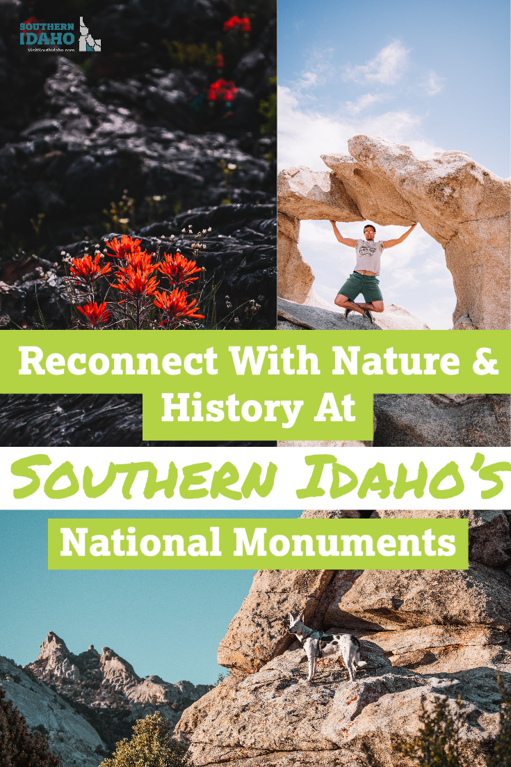 During your next Idaho road trip, be sure to plan to spend time in some of these National Monuments in Southern Idaho. These include Craters of the Moon and City of Rocks